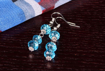 Drop Earrings -3 Tier Crystals