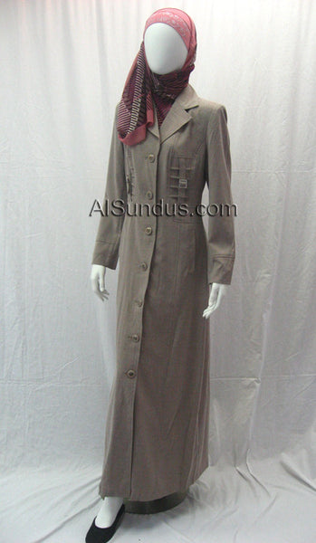 Lightweight Coat with Pleats (Jilbab) - AlSundus