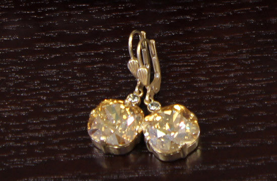 French Gold/Silver Plated Swarovski Drop Earrings