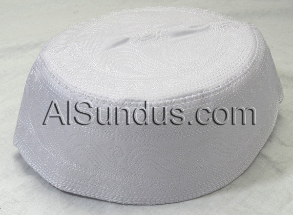 White Embroidered Cap - AlSundus