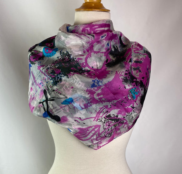 Colorful Square Silk Scarf - AlSundus