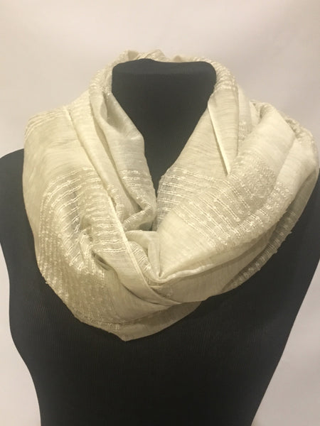 Striped textured Beige scarf shawl hijab wrap turban - AlSundus