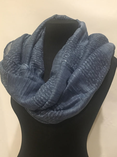 Striped midnight Blue scarf shawl hijab turban - AlSundus
