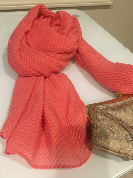 Wave textured scarf wrap hijab shawl turban - AlSundus