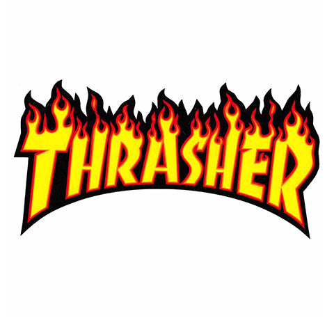 THRASHER FLAME STICKER LARGE