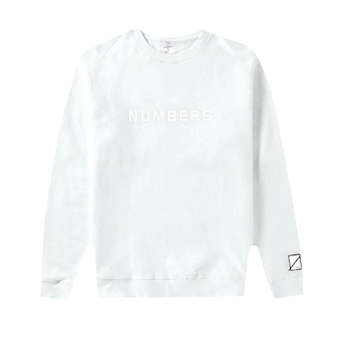 EMBROIDERED WORDMARK CREW FLEECE