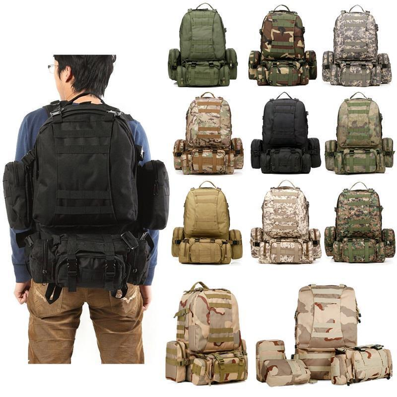 55L Waterproof Tactical  Backpack