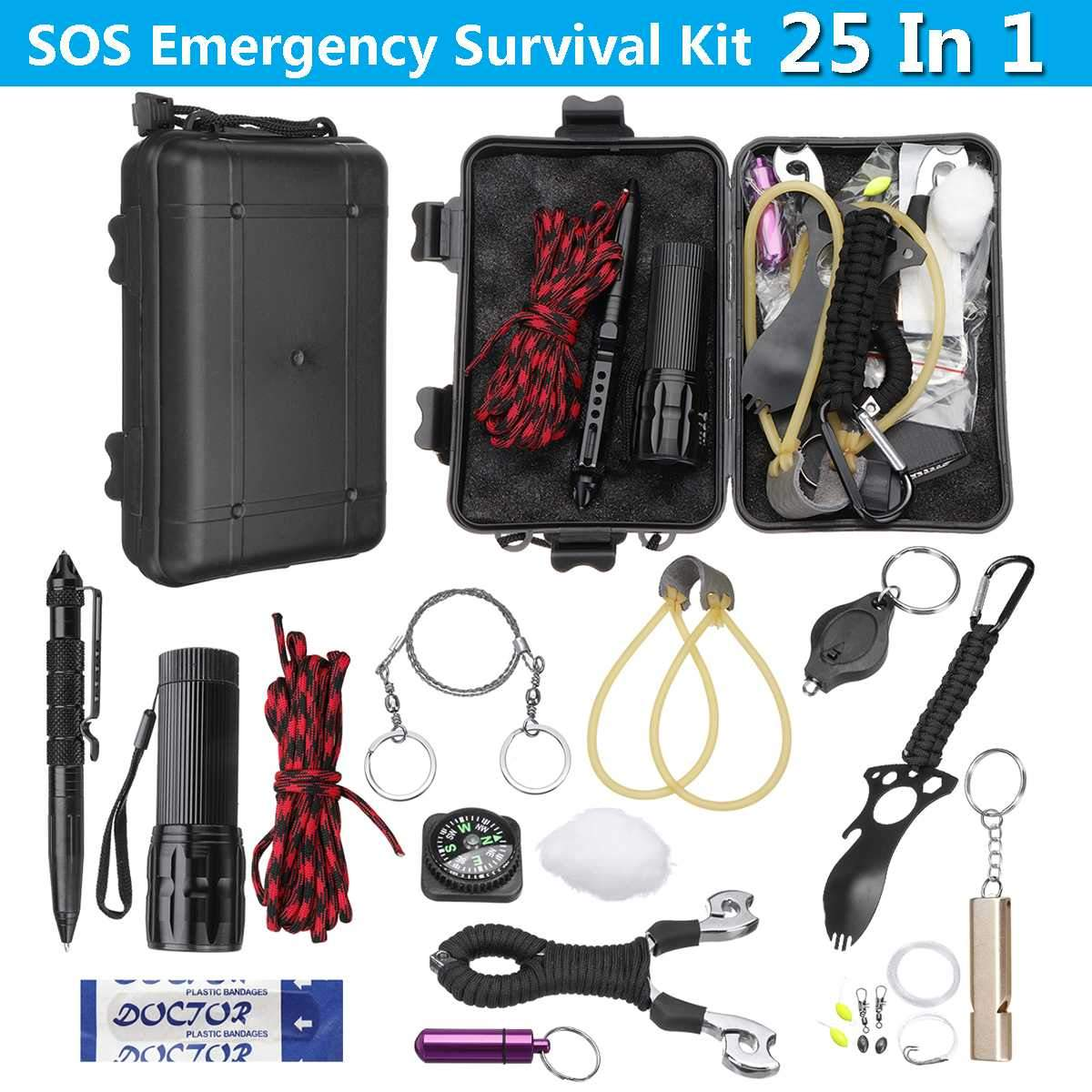 Survival Sets 25 in 1 Tactical EDC Plus Slingshot