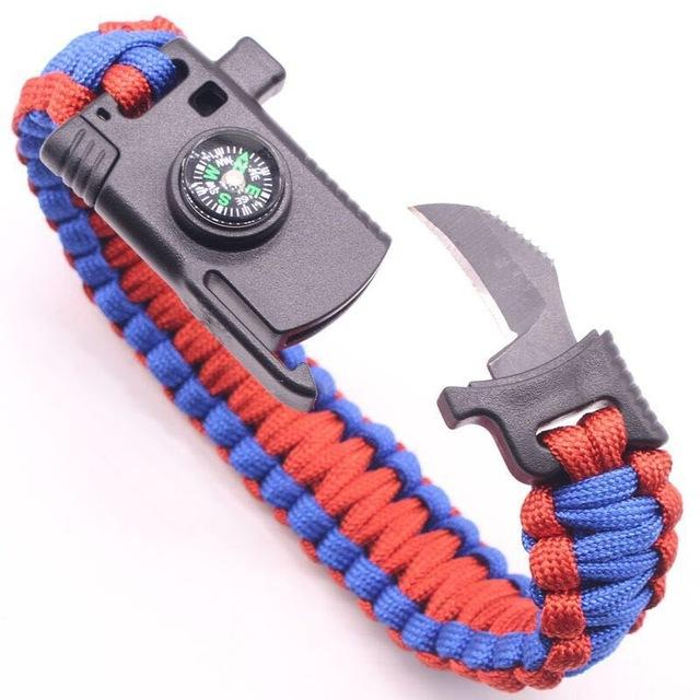 Multi Tactical Paracord Survival Braided Bracelet
