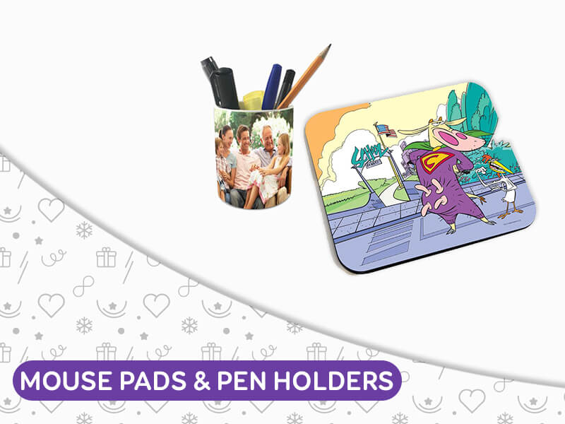 Mouse pads and Pen Stands