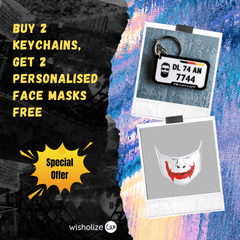 Personalised Mask & Keychain Offer - wisholize.com