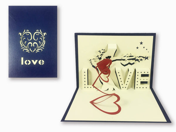 3D Pop Up Greeting Card - Love (P116)