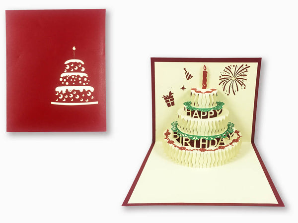 3D Pop Up Greeting Card - Birthday (P115)
