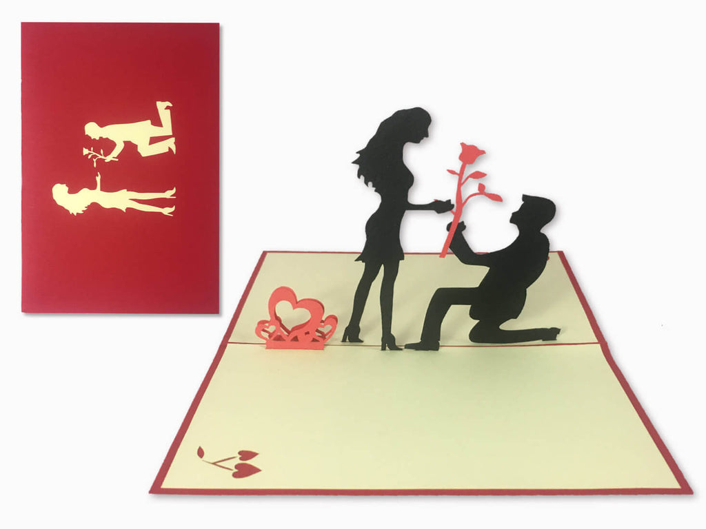 3D Pop Up Greeting Card - Love (P101)