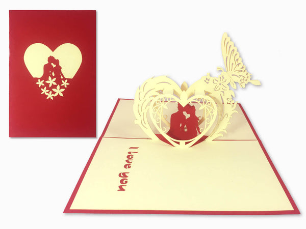 3D Pop Up Greeting Card - Love (P103)