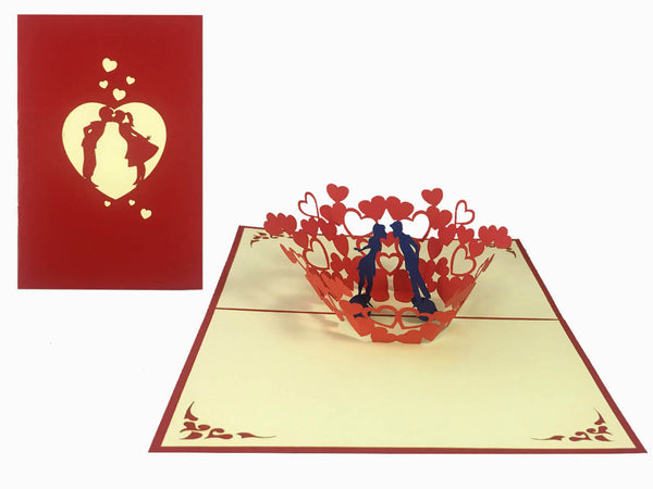 3D Pop Up Greeting Card - Love (P107)