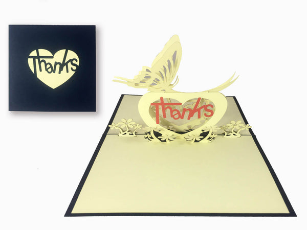 3D Pop Up Greeting Card - Thanks (P108)