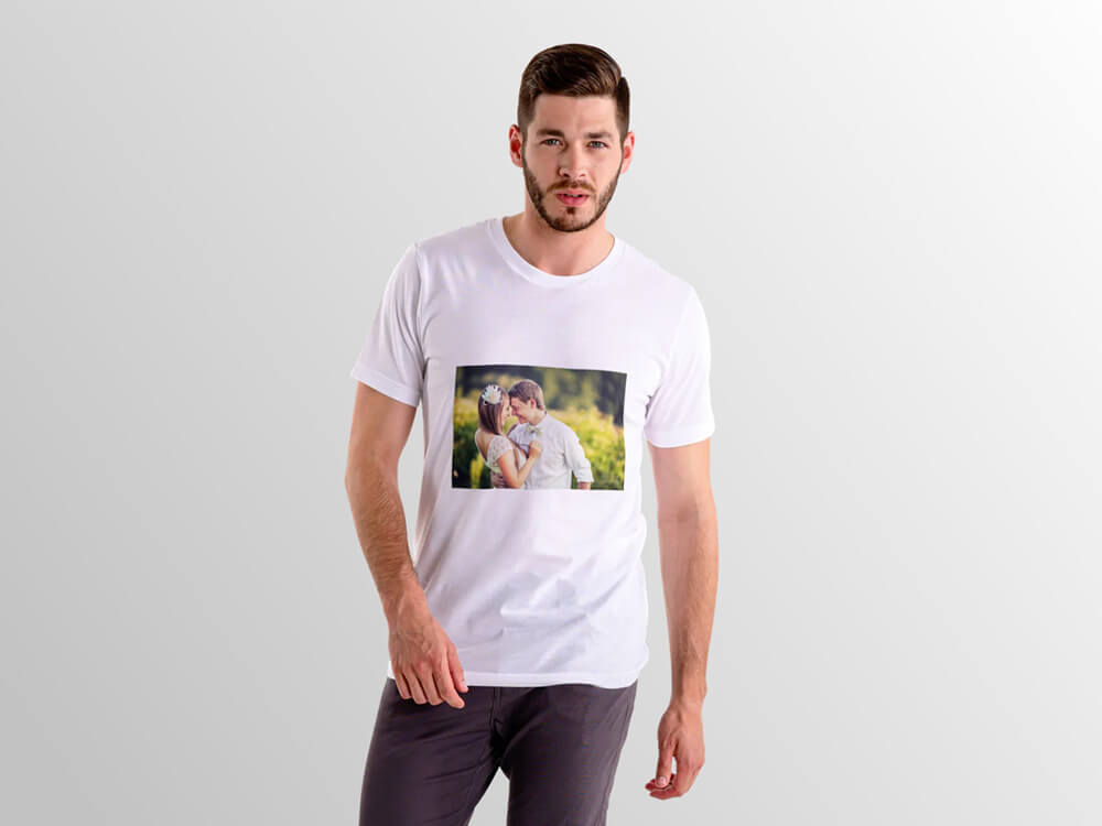 Personalised Round Neck T-Shirt (Front And Back Printing)