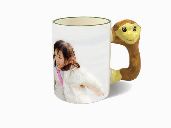 Animal Handle Mug - Monkey - Mug - Wisholize