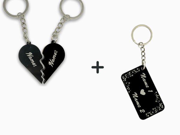 Engraved Love Key Chains Combo