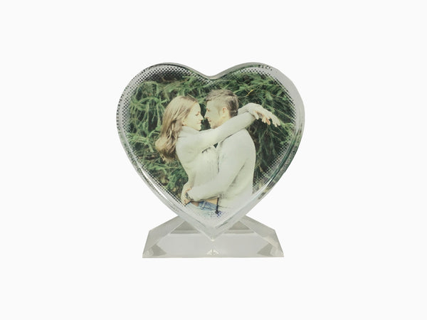 Crystal Photo Stand- Heart