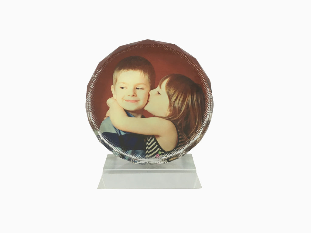 Crystal Photo Stand- Round - Photo Stand - Wisholize