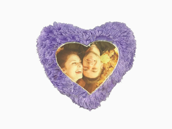 Fur Heart Cushion - Violet - Cushion - Wisholize