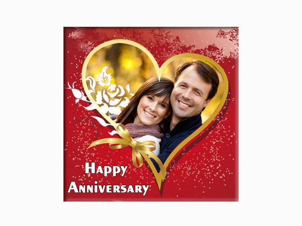 Glass Fridge Magnet - Anniversary