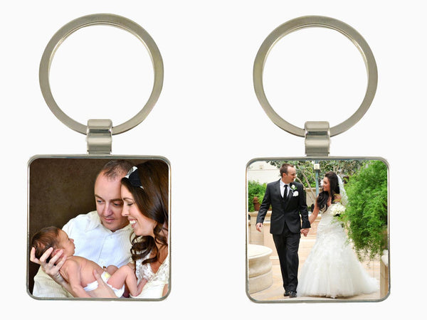 Metal Key Chain- Square (Double Side Photo) - Key Chain - Wisholize