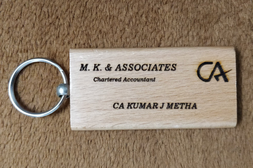 Visiting Card Replica Keychain