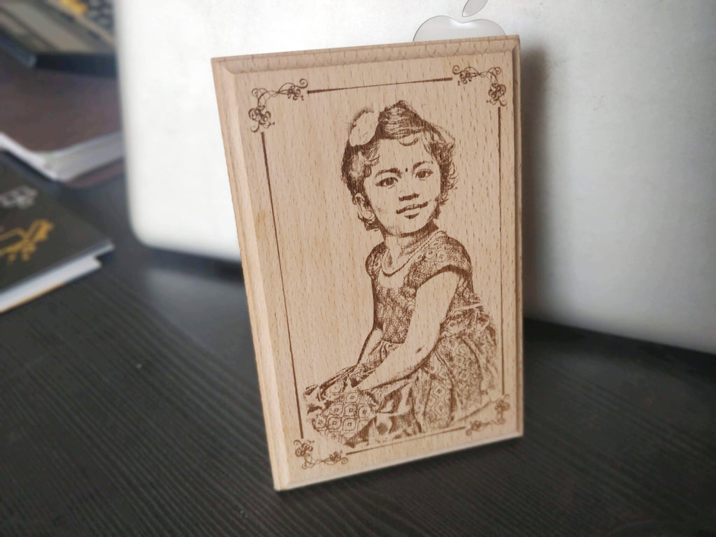 Photo Engraved Wooden Plaque (6x4)