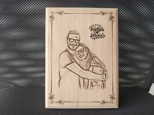 Photo Engraved Wooden Plaque (6x8)