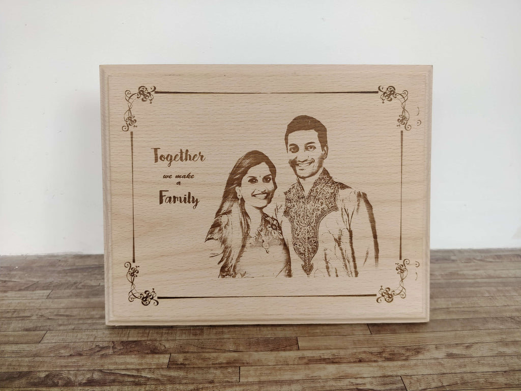 Photo Engraved Wooden Plaque (8x10)
