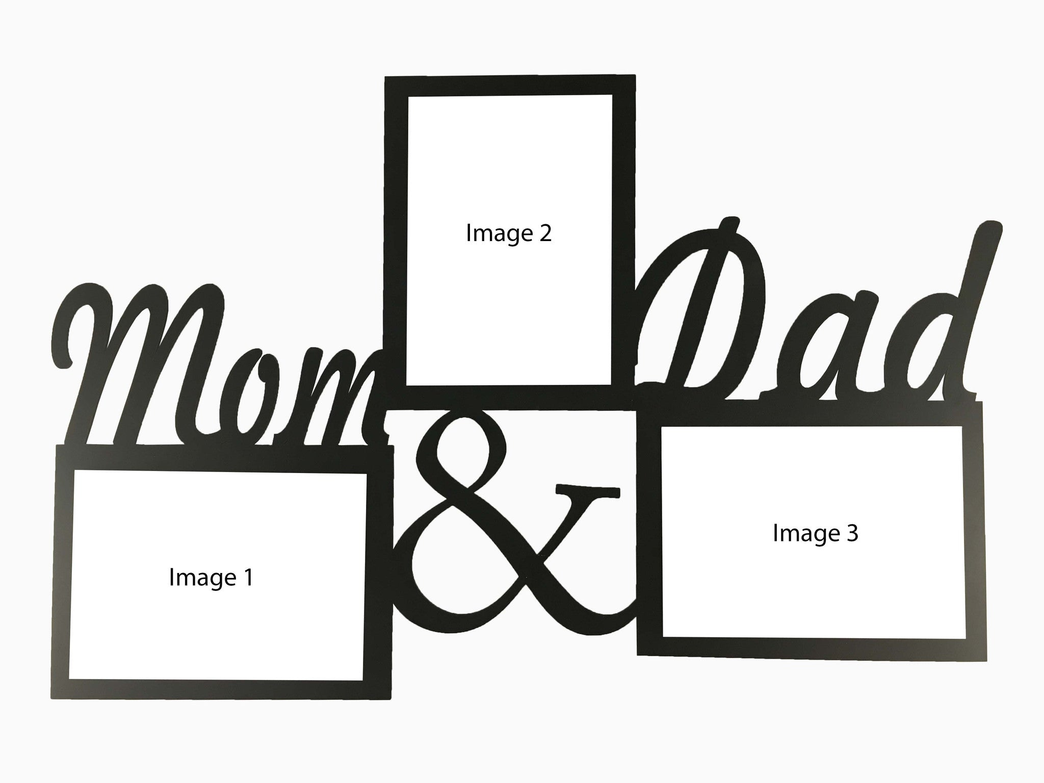 Wooden Wall Hanging Frame Mom And Dad 3 Photos Wisholize