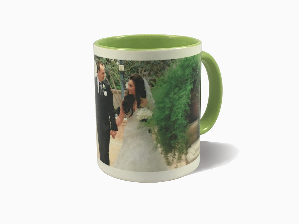 Inside Colour With Colour Handle Mug (325ml) - Mug - Wisholize - 1
