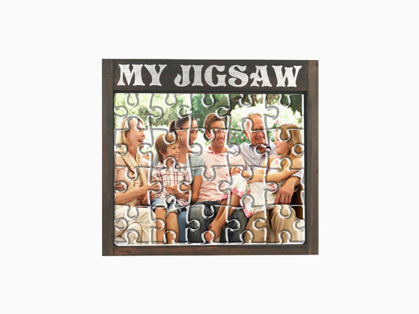 Jigsaw Puzzle with Wooden Table Frame - Puzzle - Wisholize