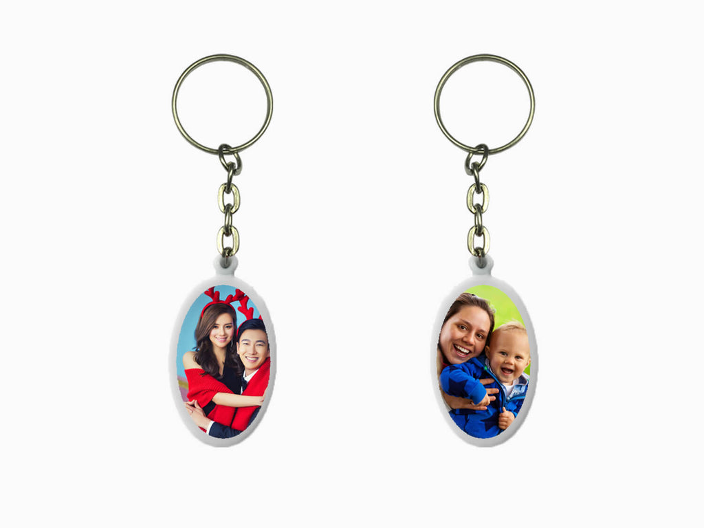 Acrylic Key Chain- Oval (Double Side Photo)