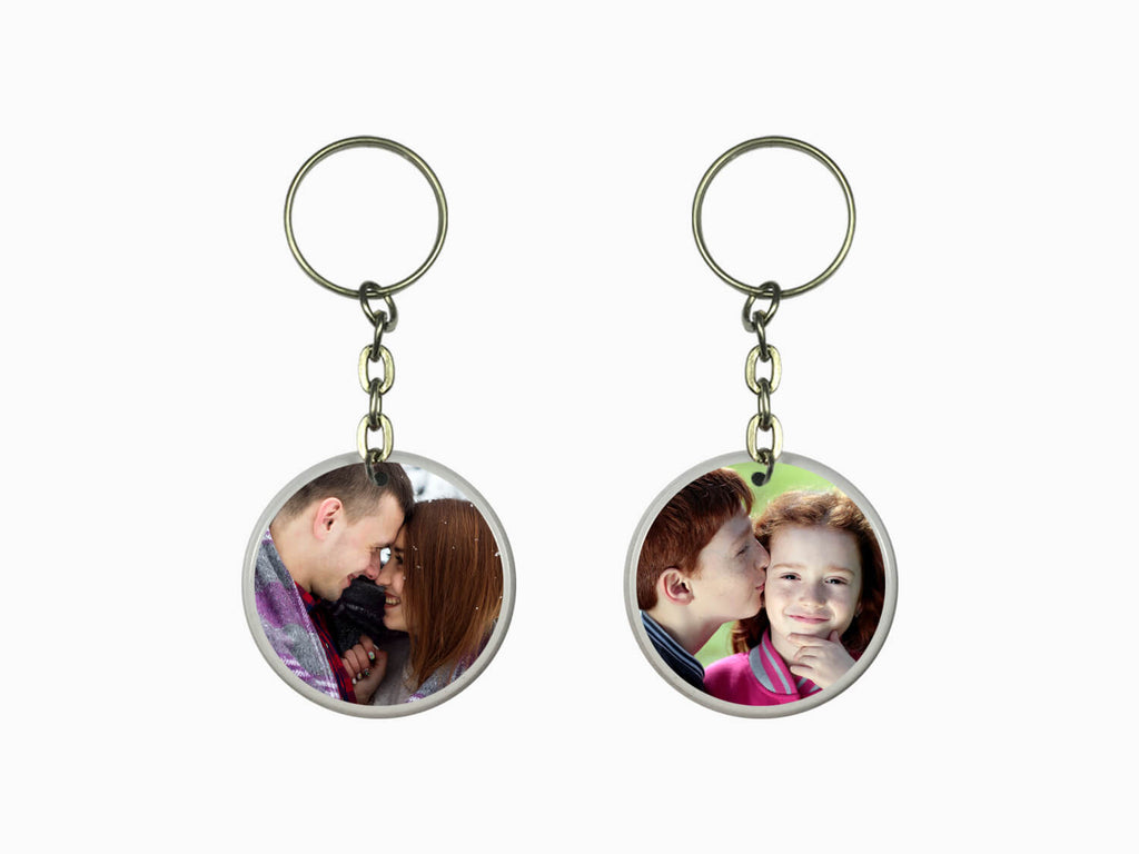 Acrylic Key Chain- Round (Double Side Photo)