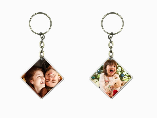 Acrylic Key Chain- Square (Double Side Photo)