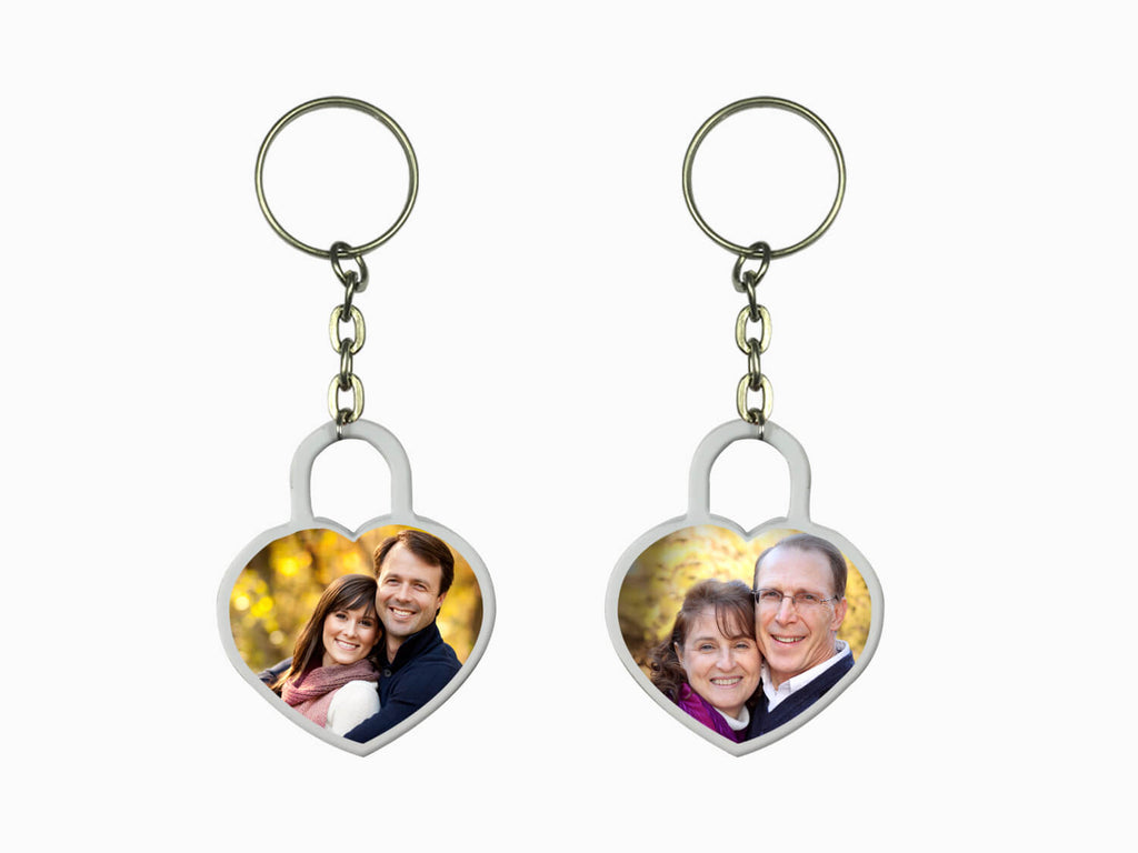 Acrylic Key Chain- Heart (Double Side Photo)