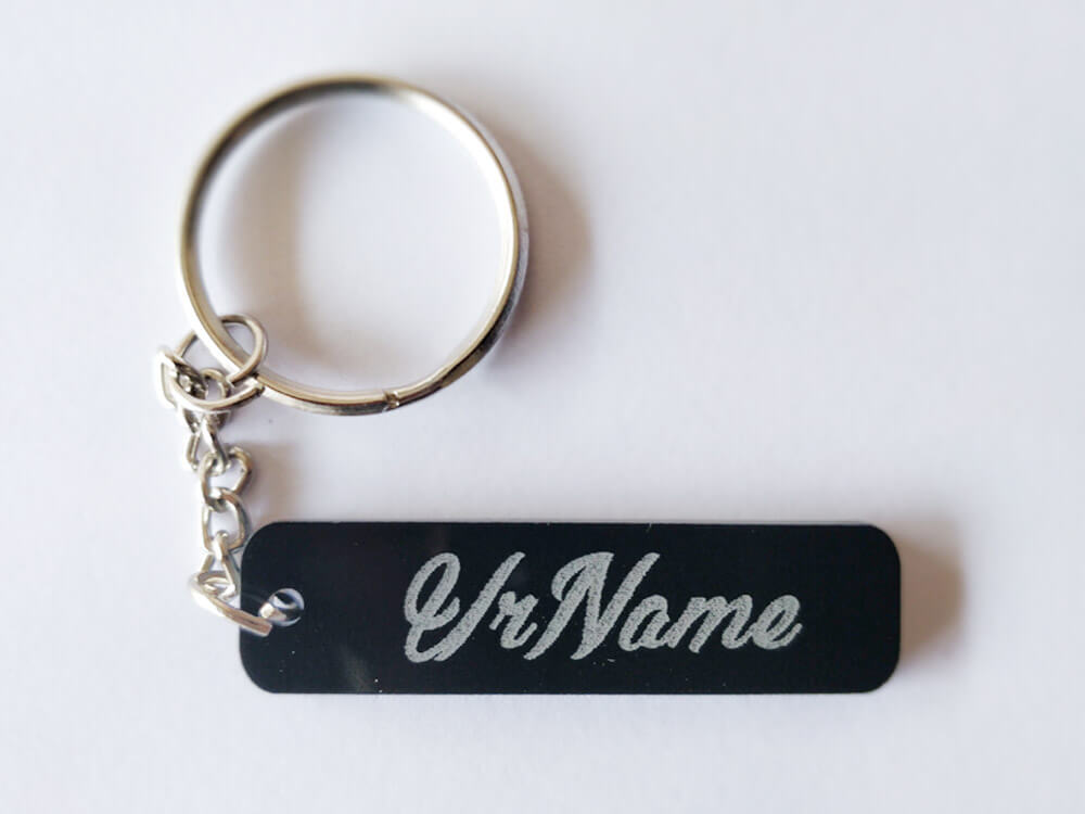 Engraved Key Chain - Rectangle