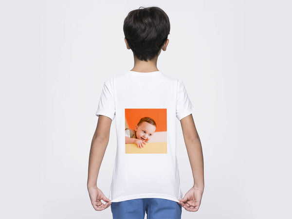 Kids Round Neck T-Shirt (Back Printing)