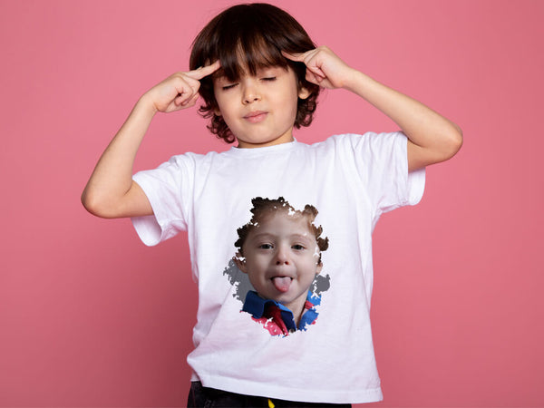Kids Round Neck T-Shirt (Front And Back Printing)
