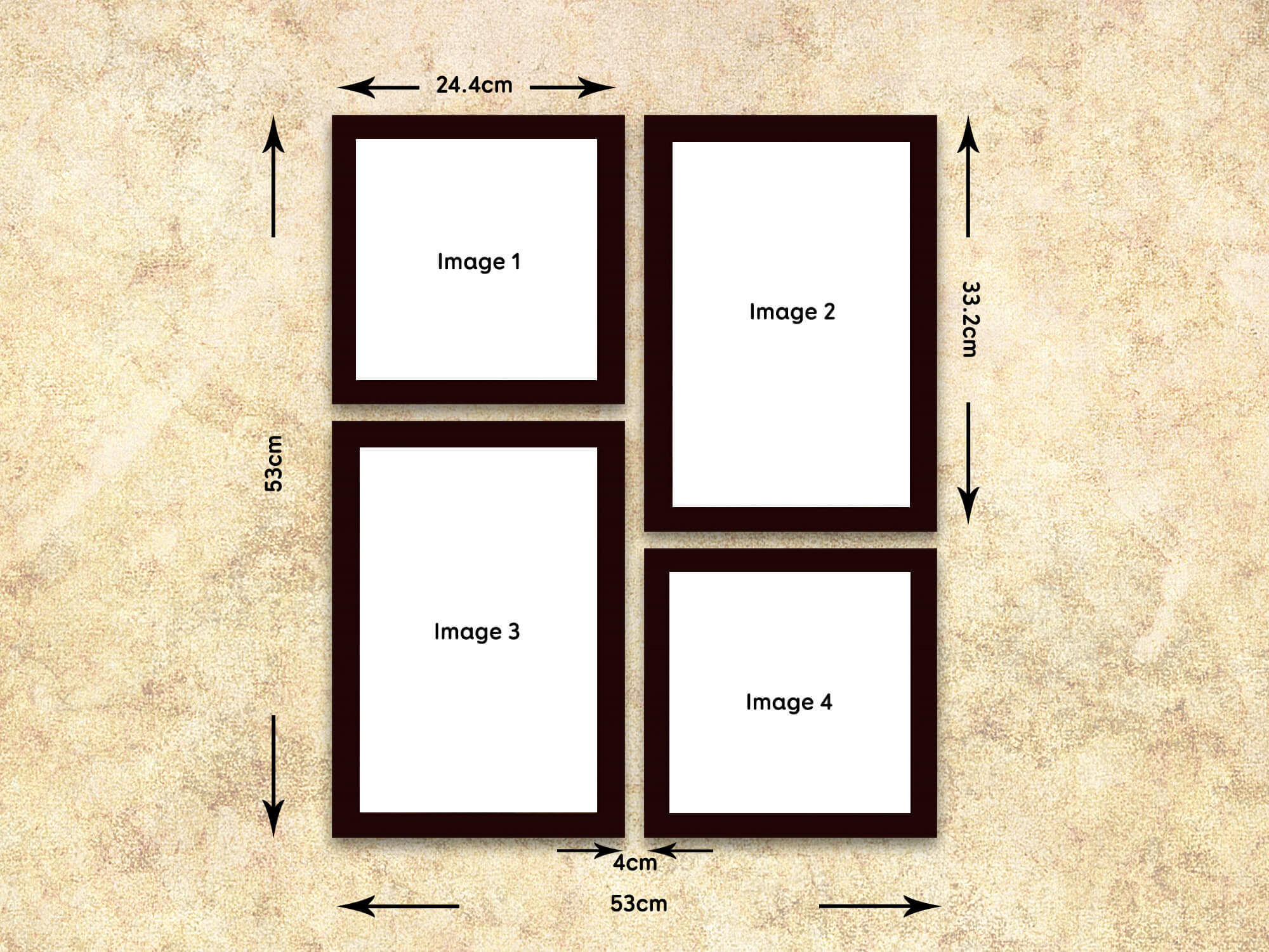 Multiple Photo Frame 4 Frames Model 201 Wisholize