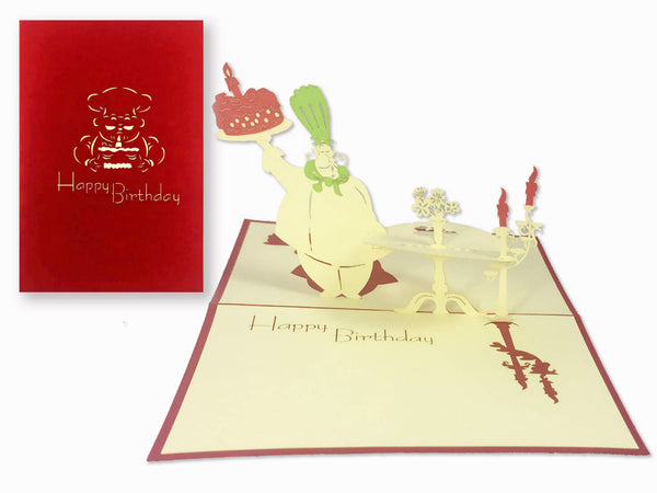 3D Pop Up Greeting Card - Birthday (P114)