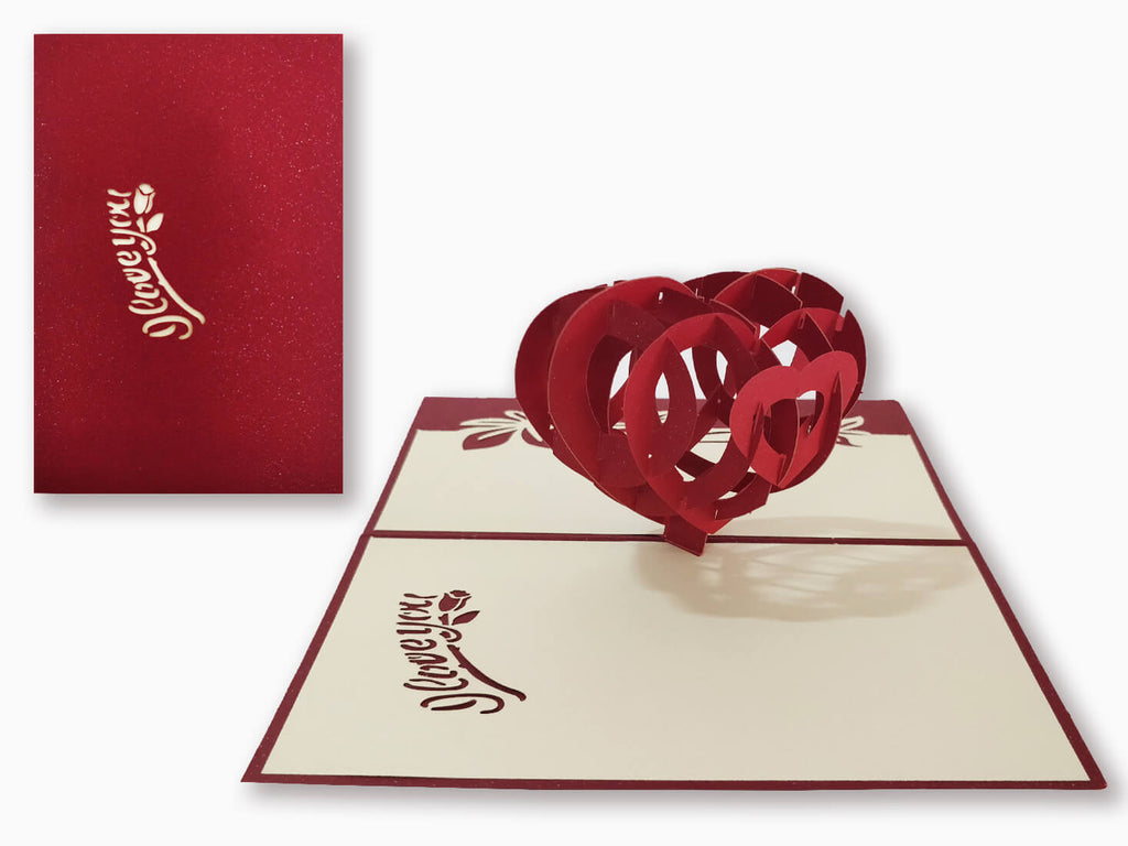 3D Pop Up Greeting Card - Love (P120)