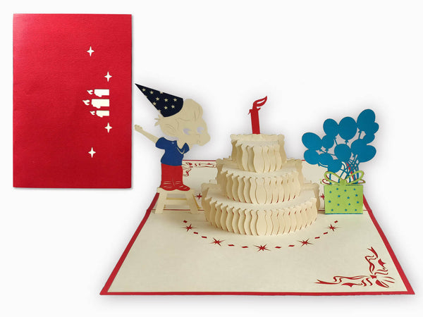 3D Pop Up Greeting Card - Birthday Boy (P121)