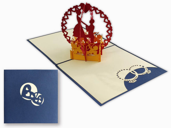 3D Pop Up Greeting Card - Love Proposal (P125)