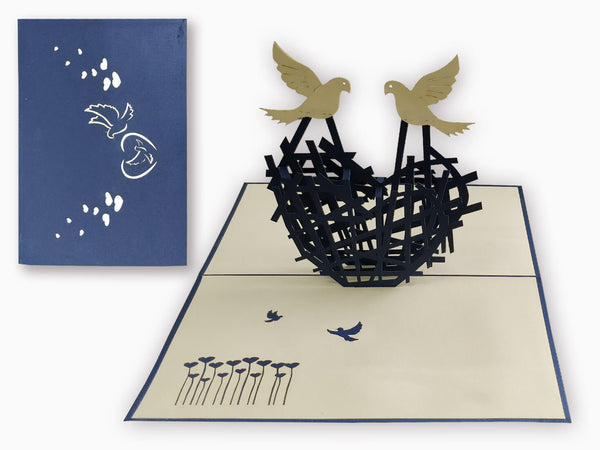 3D Pop Up Greeting Card - Heart (P126)
