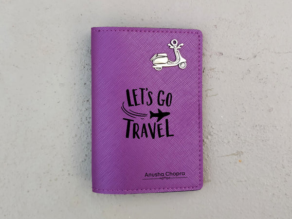 Personalised Passport Cover - Purple (C12)